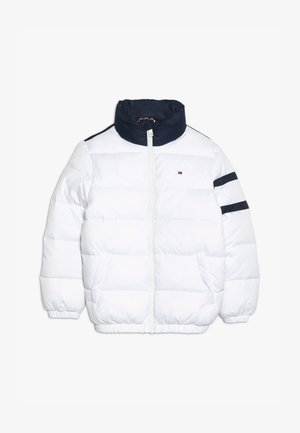 PADDED COLOUR BLOCK PUFFER - Winter jacket - white