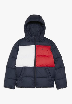 PADDED FLAG JACKET - Chaqueta de invierno - blue