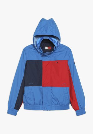 REVERSIBLE COLOR BLOCK JACKET - Light jacket - blue