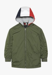 Tommy Hilfiger - HOODED FLIGHT - Cappotto invernale - green - 0