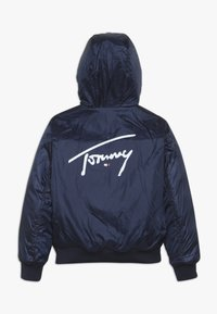 Tommy Hilfiger - REVERSIBLE QUILTED HOODED BOMBER - Jas - blue - 3