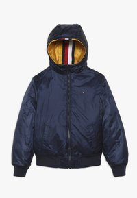 Tommy Hilfiger - REVERSIBLE QUILTED HOODED BOMBER - Jas - blue - 2