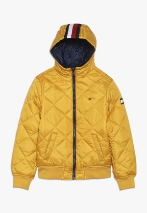 REVERSIBLE QUILTED HOODED BOMBER - Light jacket - blue