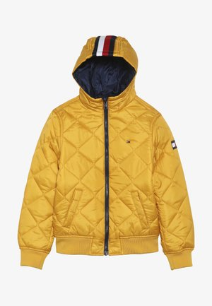 REVERSIBLE QUILTED HOODED BOMBER - Jas - blue