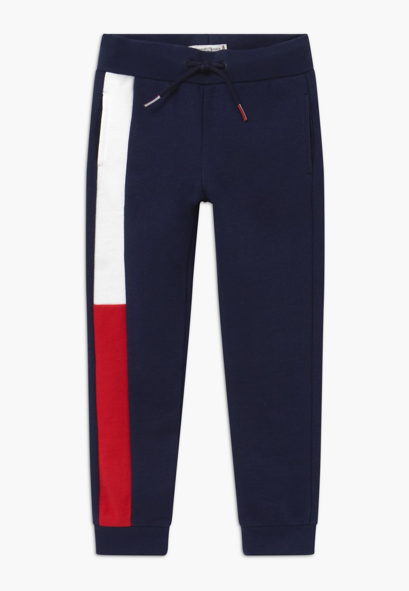 Tommy Hilfiger - FLAG - Tracksuit bottoms - blue