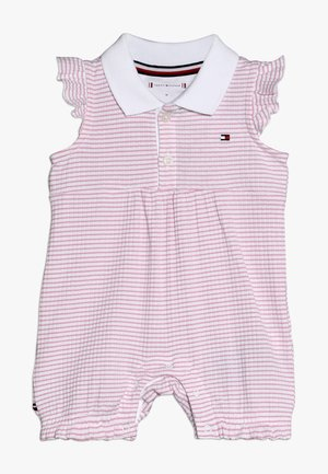 BABY GIRL STRIPE SHORTALL - Combinaison - purple