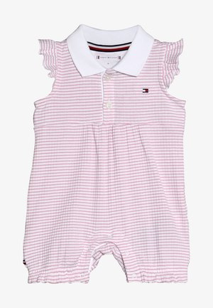 BABY GIRL STRIPE SHORTALL - Overall / Jumpsuit /Buksedragter - purple