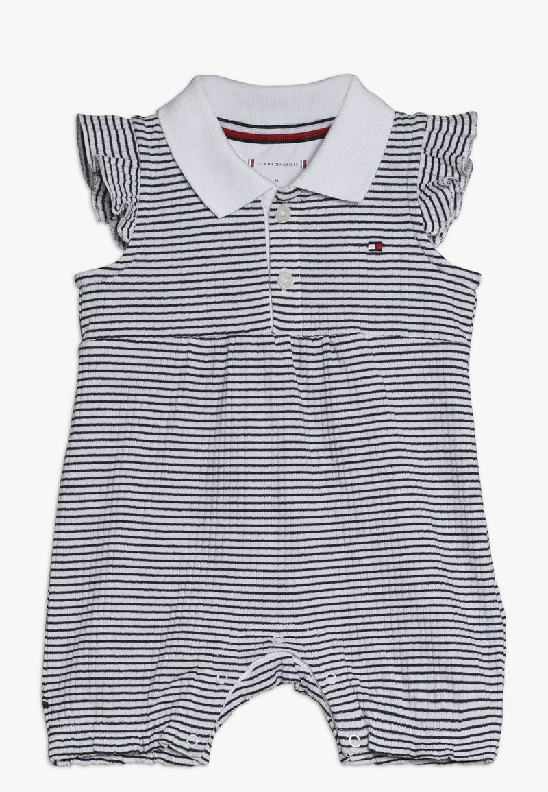 Tommy Hilfiger - BABY GIRL STRIPE SHORTALL - Jumpsuit - blue