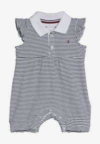 Tommy Hilfiger - BABY GIRL STRIPE SHORTALL - Jumpsuit - blue - 2