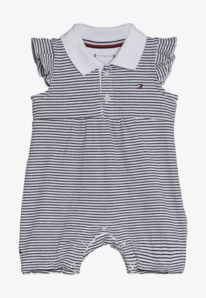 BABY GIRL STRIPE SHORTALL - Overal - blue