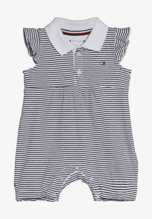 BABY GIRL STRIPE SHORTALL - Jumpsuit - blue
