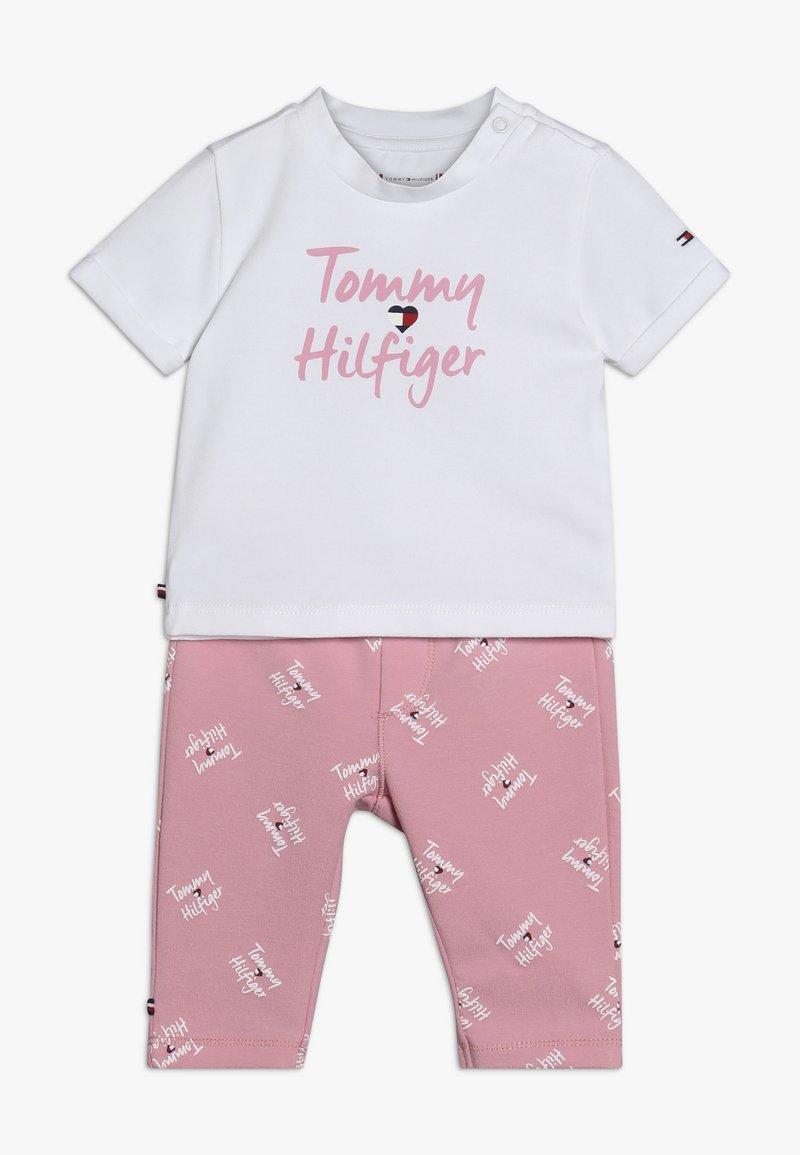 Tommy Hilfiger - BABY PRINTED SET - Legging - pink