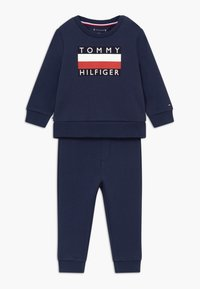 Tommy Hilfiger - BABY TRACKSUIT SET - Trainingspak - blue - 0