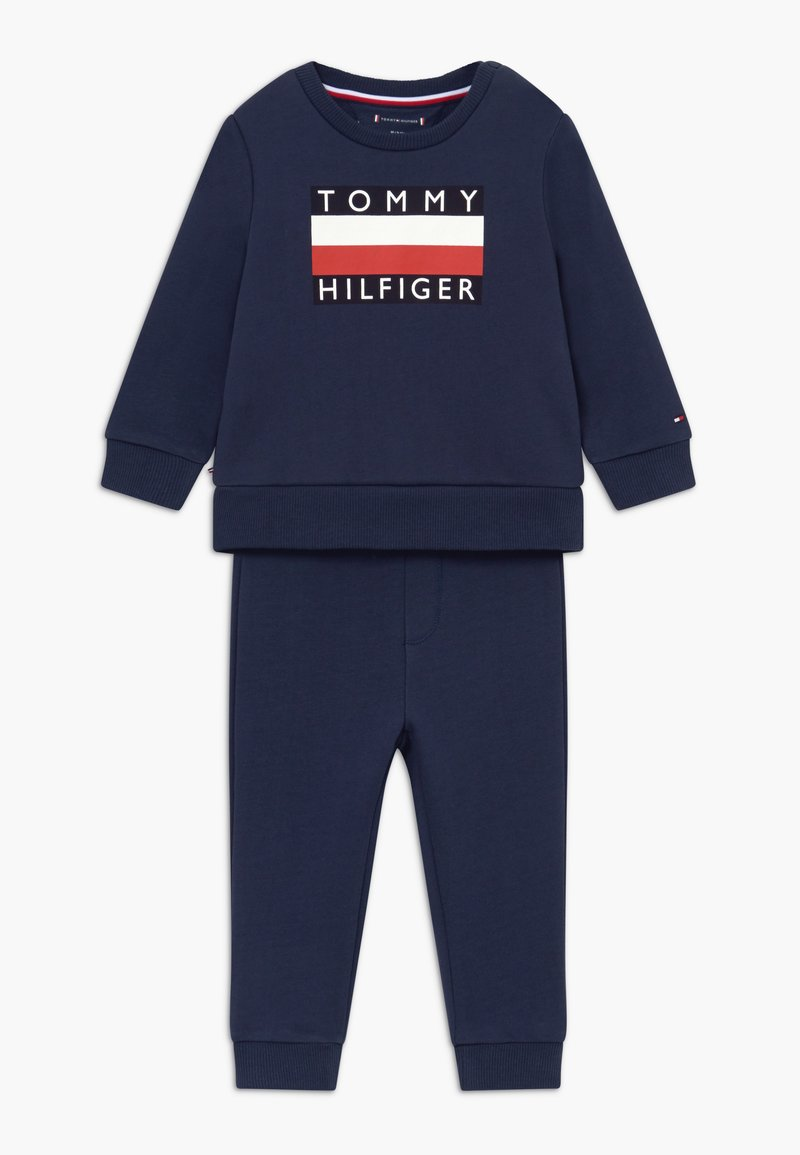 Tommy Hilfiger - BABY TRACKSUIT SET - Trainingspak - blue
