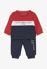 Tommy Hilfiger - BABY COLOURBLOCK TRACKSUIT SET - Sudadera - blue - 4