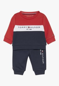 Tommy Hilfiger - BABY COLOURBLOCK TRACKSUIT SET - Sudadera - blue - 0