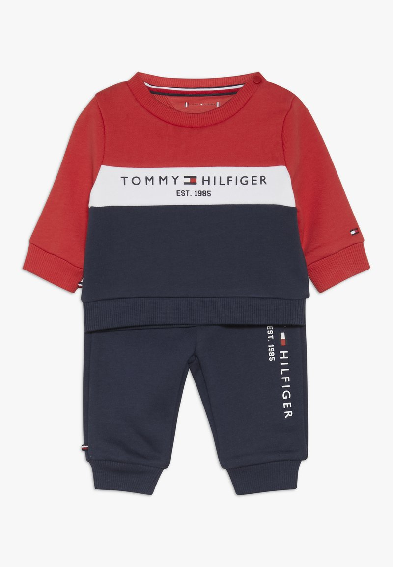 Tommy Hilfiger - BABY COLOURBLOCK TRACKSUIT SET - Sudadera - blue