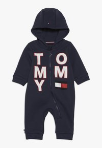 Tommy Hilfiger - BABY ZIP COVERALL - Body - blue - 0