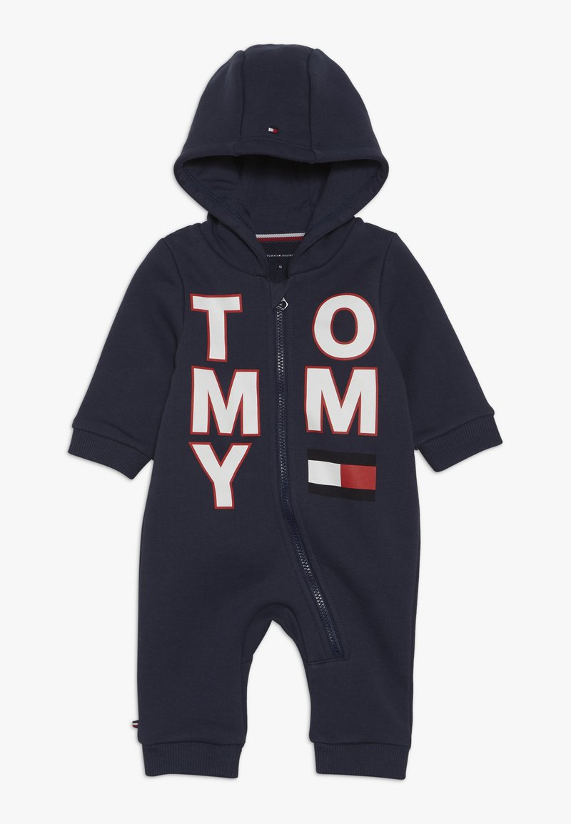 Tommy Hilfiger - BABY ZIP COVERALL - Body - blue