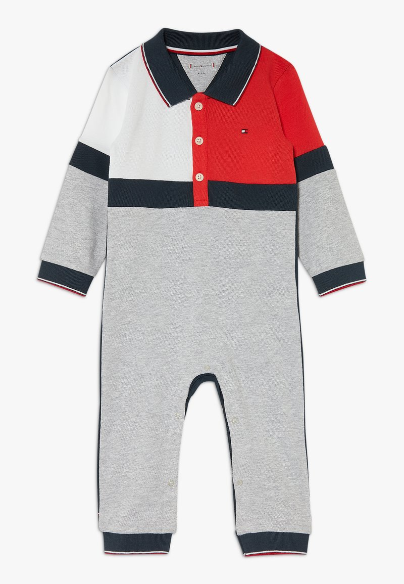 Tommy Hilfiger - BABY COLOURBLOCK COVERALL - Jumpsuit - grey