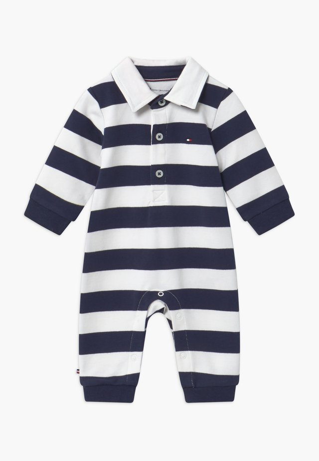 BABY RUGBY STRIPE COVERALL - Overall / Jumpsuit /Buksedragter - blue