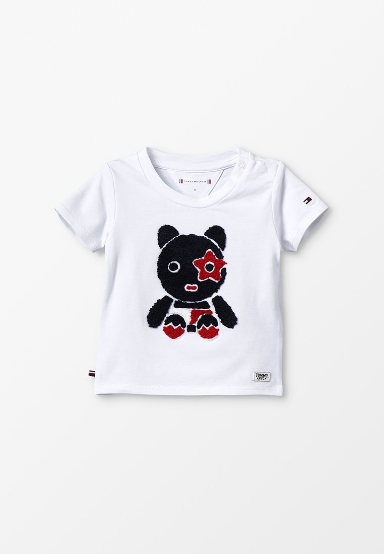 Tommy Hilfiger - BABY MASCOT TEE - T-Shirt print - bright white