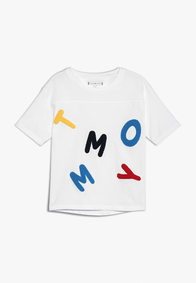 Tommy Hilfiger - TOWELLING TEE - T-shirts print - white