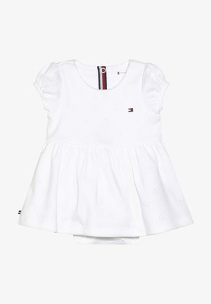 BABY GIRL AJOUR DRESS - Jerseykjoler - white