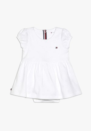 BABY GIRL AJOUR DRESS - Robe en jersey - white