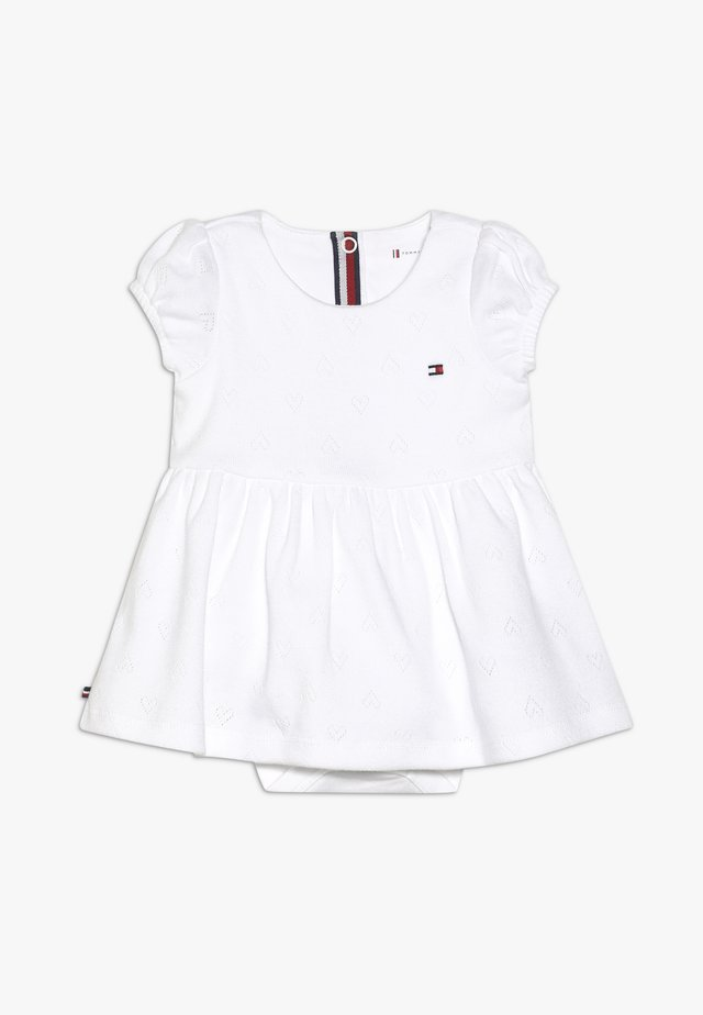 BABY GIRL AJOUR DRESS - Jersey dress - white