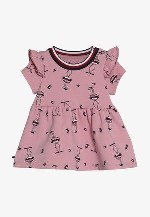 BABY GIRL PRINTED DRESS SET - Jerseykjole - purple
