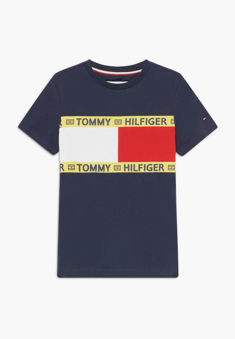 Tommy Hilfiger - FLAG - Print T-shirt - blue