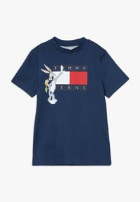 Tommy Hilfiger - LOONEY TUNES TEE - T-shirt print - blue - 0