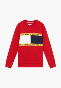 Tommy Hilfiger - FLAG CREW  - Sweatshirt - red - 0