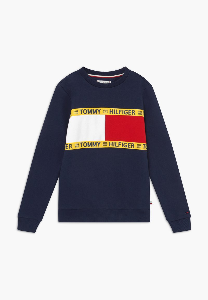 Tommy Hilfiger - FLAG CREW  - Sweatshirt - blue