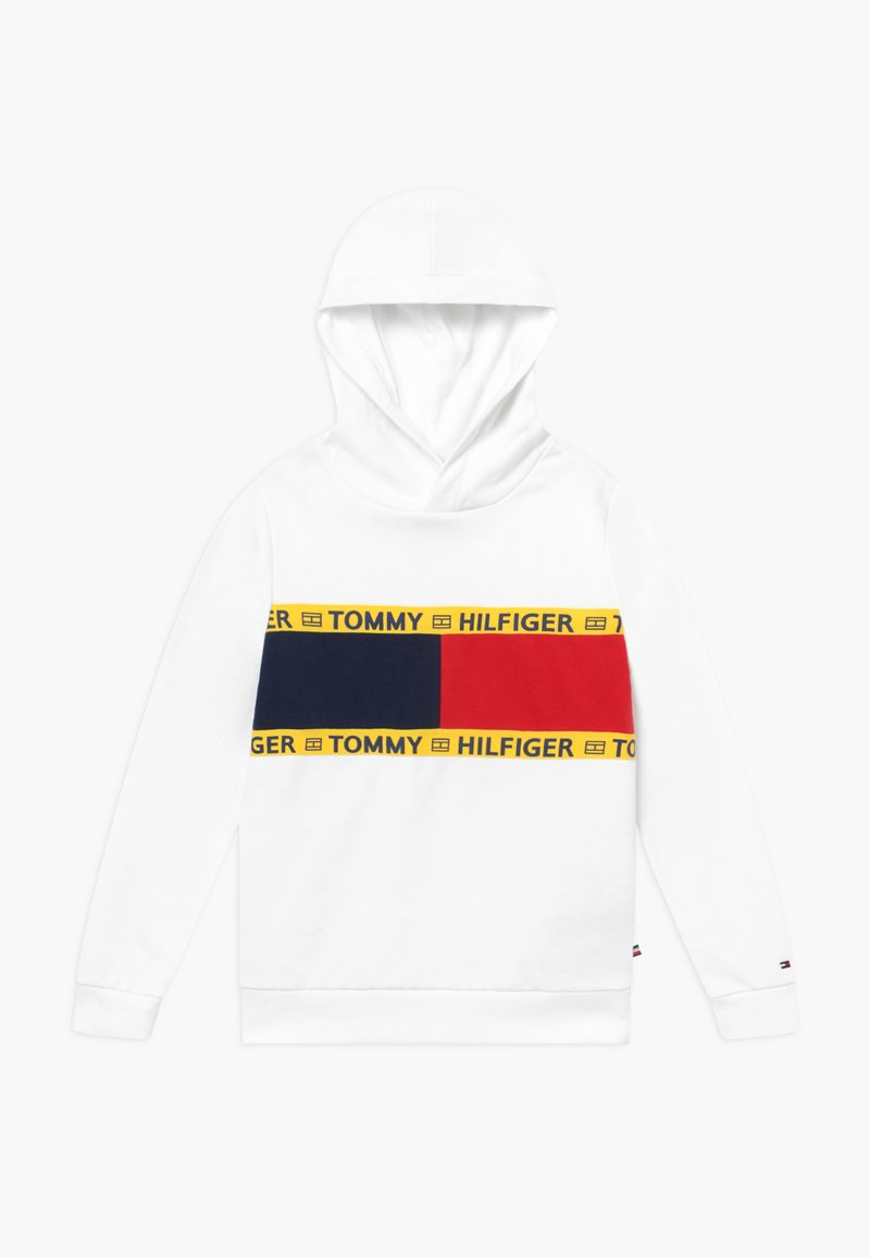 Tommy Hilfiger - FLAG CREW HOODY - Jersey con capucha - white