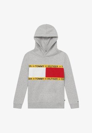 FLAG CREW HOODY - Jersey con capucha - grey
