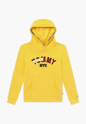GRAPHIC HOODED - Mikina s kapucí - yellow