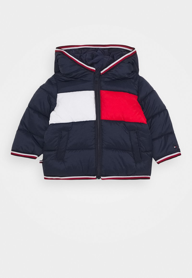 Tommy Hilfiger - BABY FLAG PUFFER JACKET - Winterjas - blue