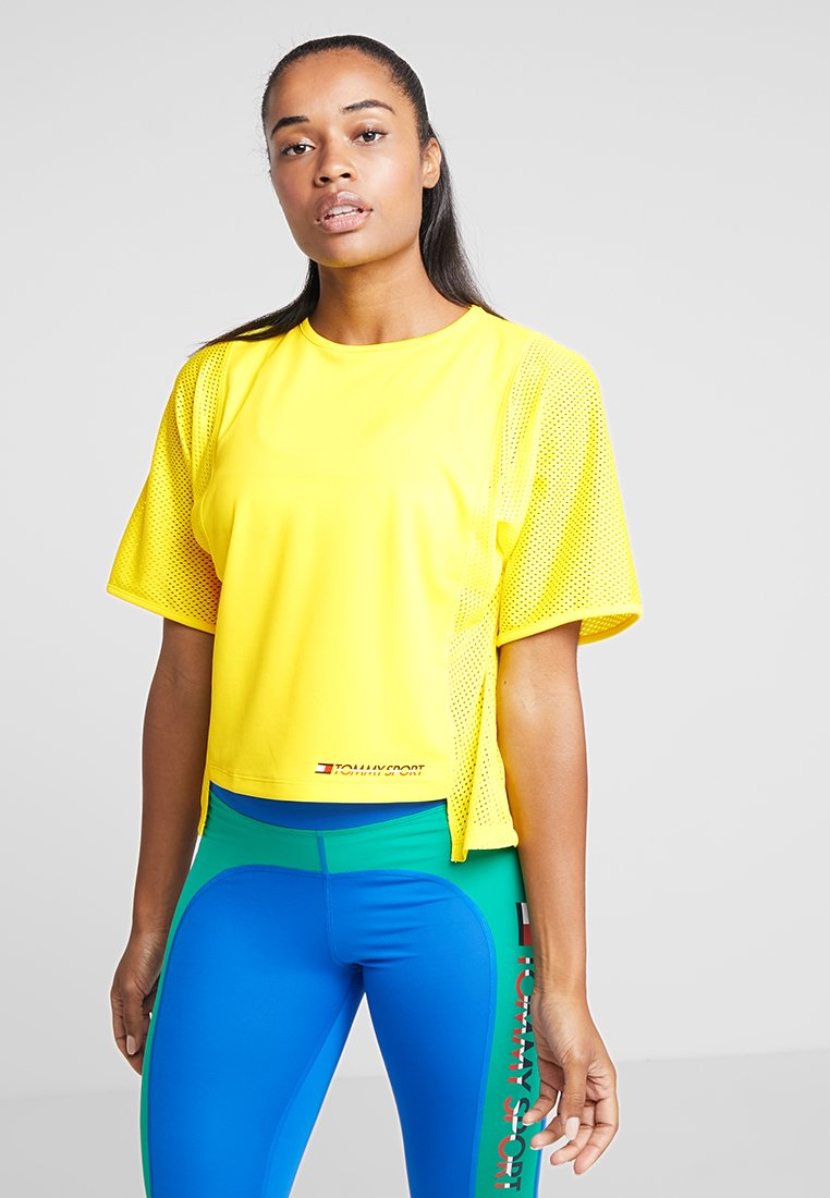 Tommy Sport - TEE - Camiseta estampada - blazing yellow