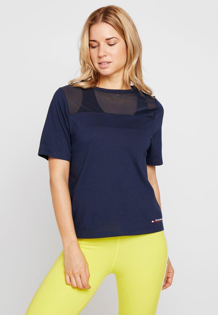 Tommy Sport - TEE - Camiseta estampada - sport navy