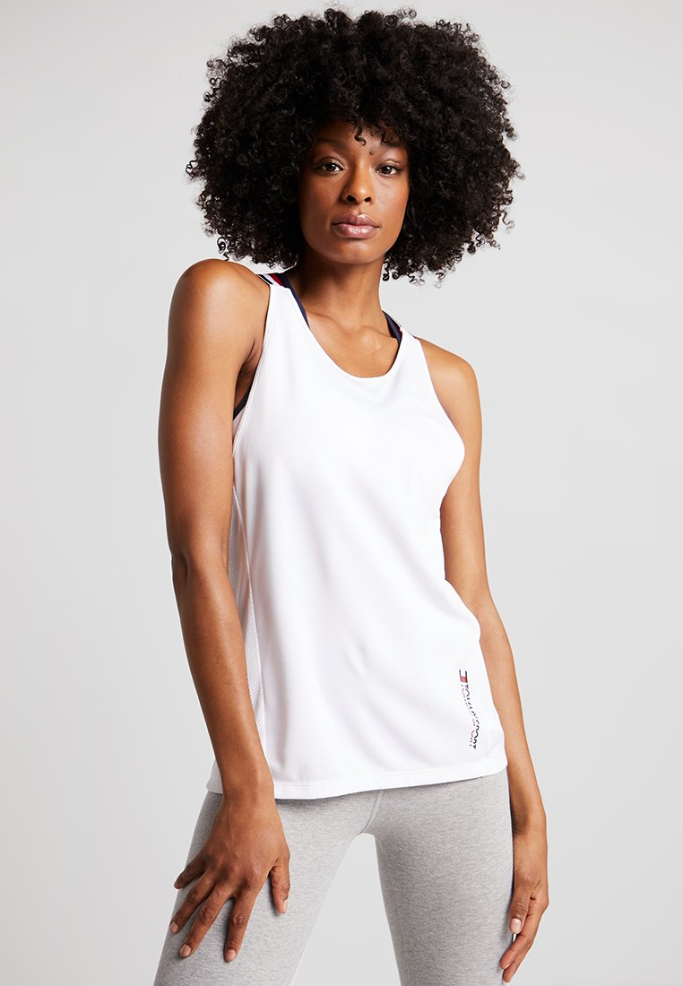Tommy Sport - TANK GLOBAL - Funktionsshirt - white