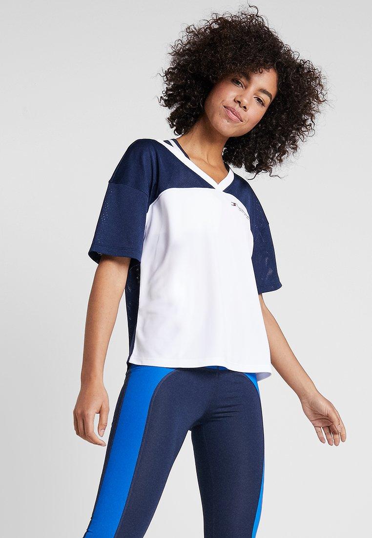 Tommy Sport - T-shirt z nadrukiem - navy