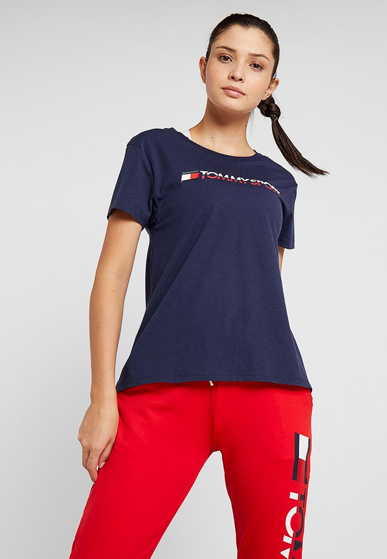 Tommy Sport - Camiseta estampada - sport navy