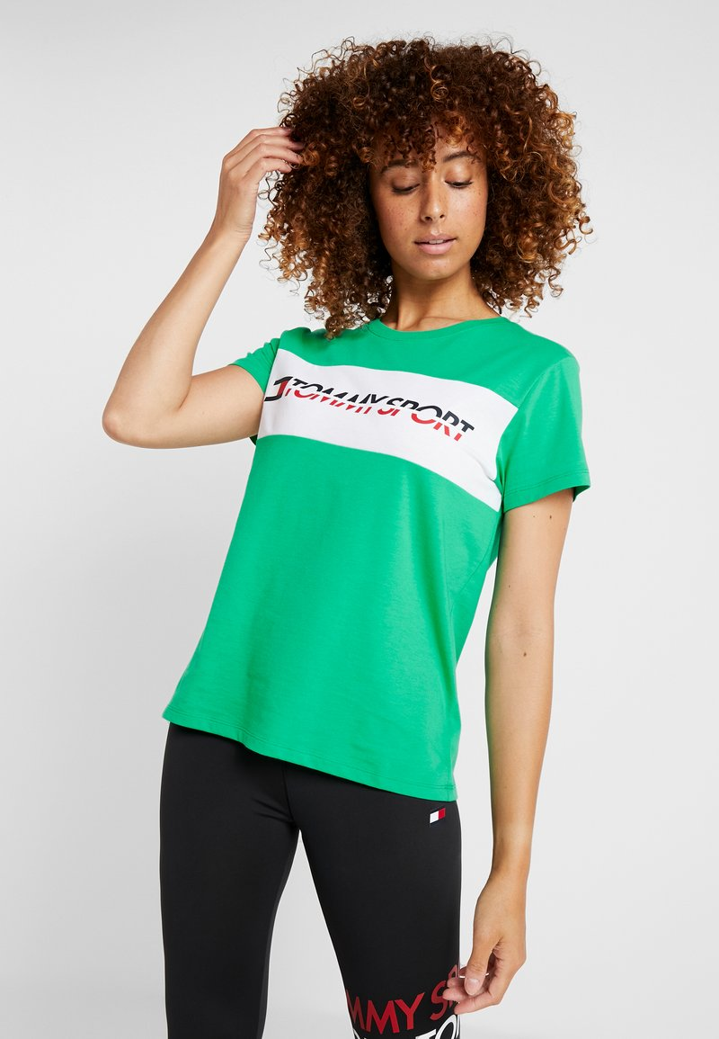 Tommy Sport - LOGO DRIVER TEE  - Camiseta estampada - green