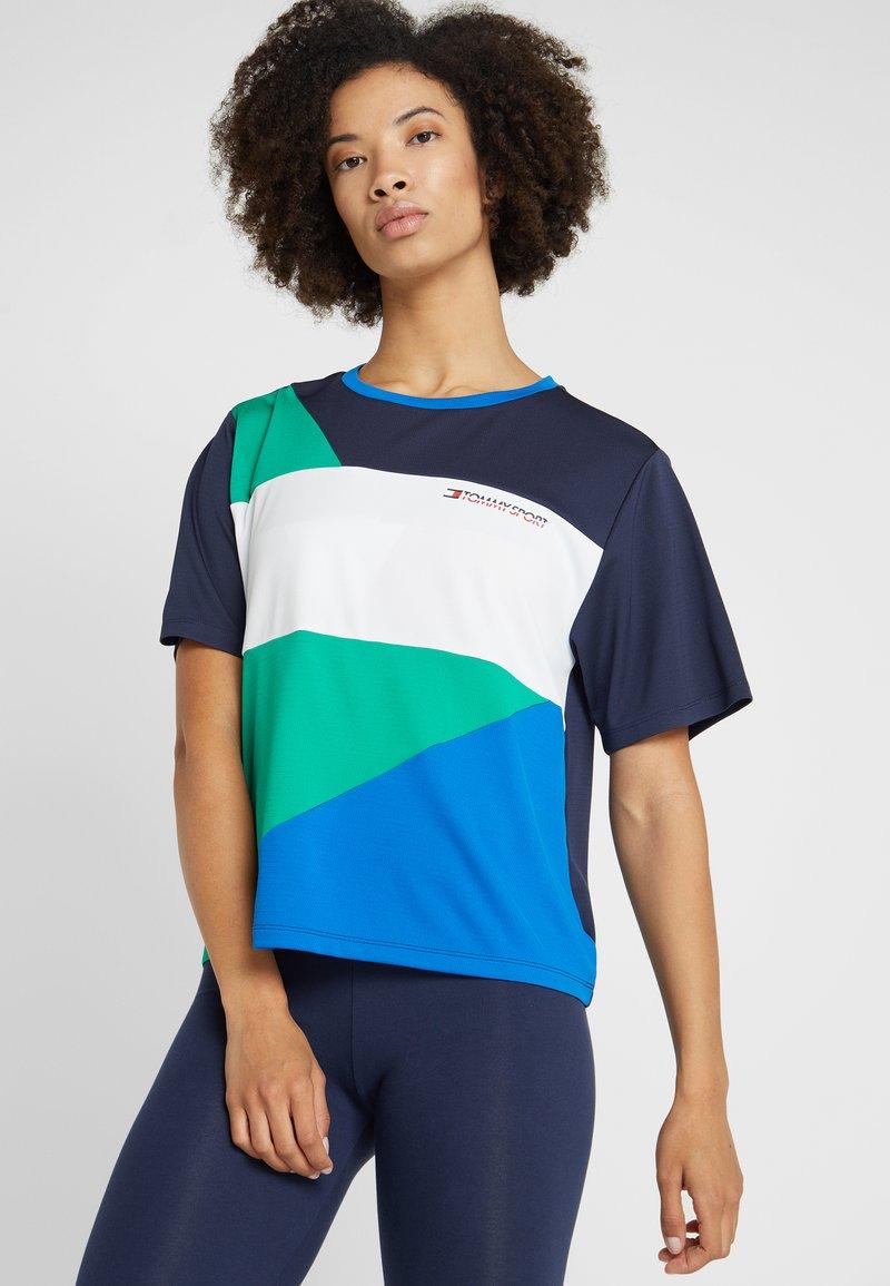 Tommy Sport - STATEMENT TEE - T-shirt z nadrukiem - golf green