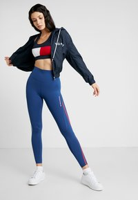 Tommy Sport - HIGH WAIST - Leggings - blue - 1