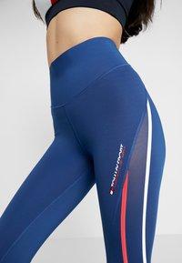 Tommy Sport - HIGH WAIST - Leggings - blue - 3
