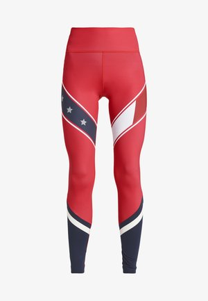 LEGGING WITH STARS  - Medias - red