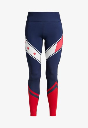 LEGGING WITH STARS  - Tights - sport navy